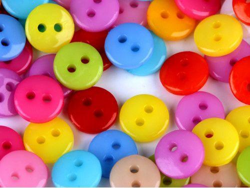 guziki mini kolorowe mix 200 sztuk