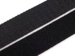 rzep taśma dwustronna czarna 0,5 metra
