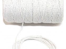 sznurek bawełniany 1,5 mm biały -100 m