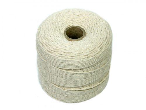 sznurek bawełniany skręcany 2 mm ecru -300m