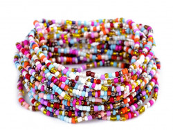bransoletka z koralików zestaw 16 sztuk kolorowy mix jasny