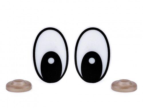 oczy do zabawek 30mm czarne