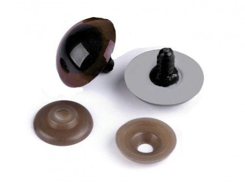 oczy do zabawek brązowe 30mm