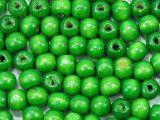 koraliki drewniane 10mm zielone