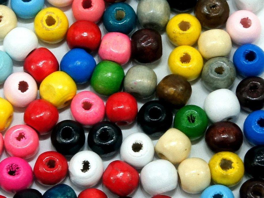 koraliki drewniane 10mm mix kolorów