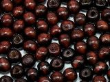 koraliki drewniane 10mm brązowe