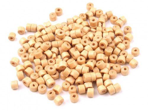 koraliki drewniane rurka naturalny