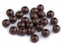 koraliki drewniane 10mm brązowe -50g