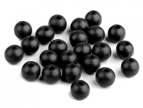 koraliki drewniane 10mm czarne-50g