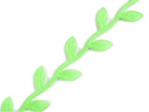 taśma ozdobna listki zielone