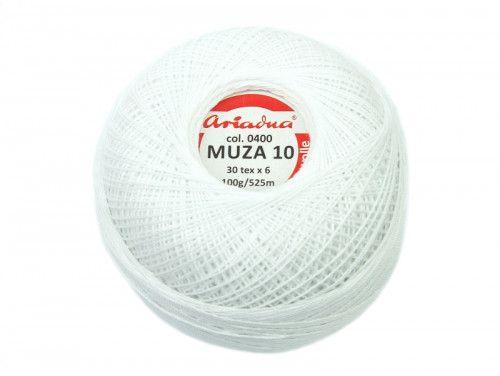 Kordonek MUZA 10 (30x6) 0400 biały ARIADNA