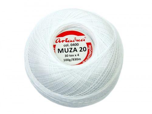 Kordonek MUZA 20 (30x4) 0400 biały ARIADNA
