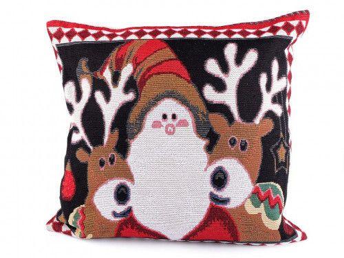 poszewka na poduszkę Mikołaj z reniferami