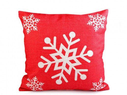 poszewka na poduszkę płatki sniegu
