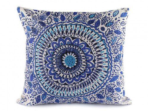poszewka na poduszkę mandala niebieska
