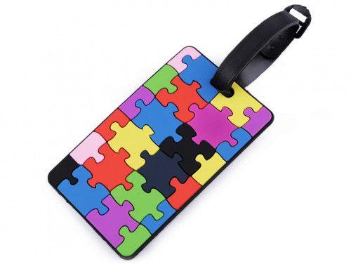 przywieszka identyfikator do bagażu puzzle