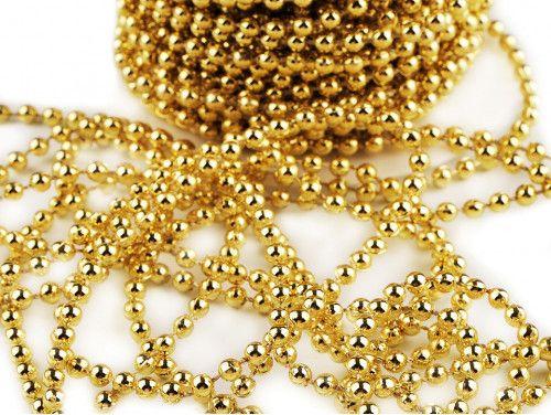 koraliki na sznurku 4mm złote