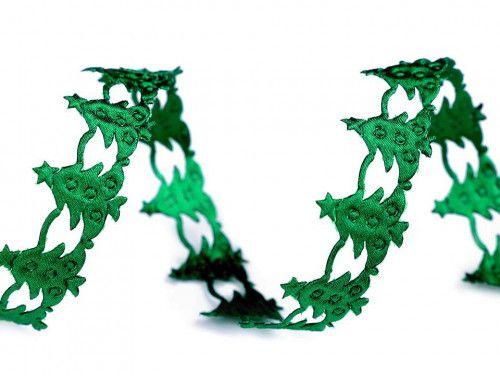 taśma ozdobna choinki zielone