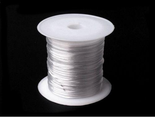 żyłka silikonowa elastyczna 1mm biała