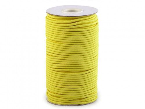 guma okrągła 2 mm żółta