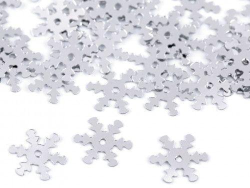 cekiny płatki śniegu srebrne