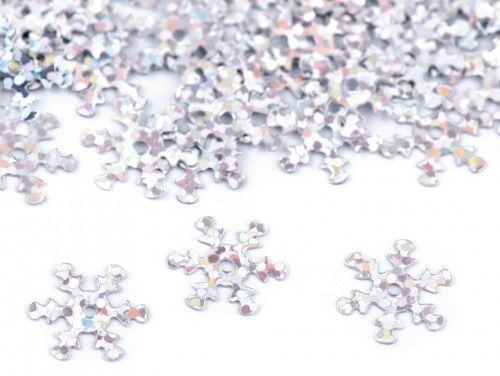 cekiny płatki śniegu srebrne hologramowe