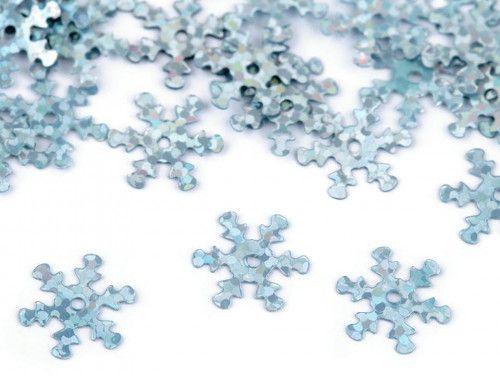 cekiny płatki śniegu turkusowe hologramowe