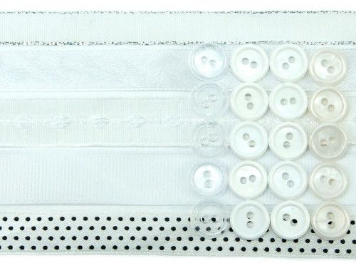 wstążki zestaw biały