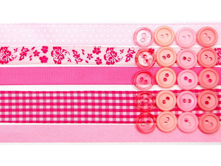 wstążki zestaw różowy
