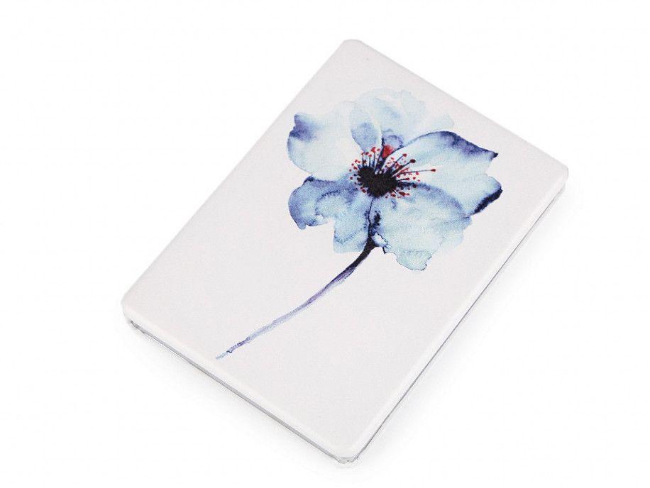 lusterko kieszonkowe kwiat niebieski