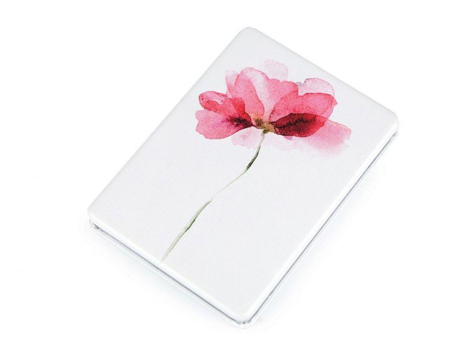 lusterko kieszonkowe kwiat różowy
