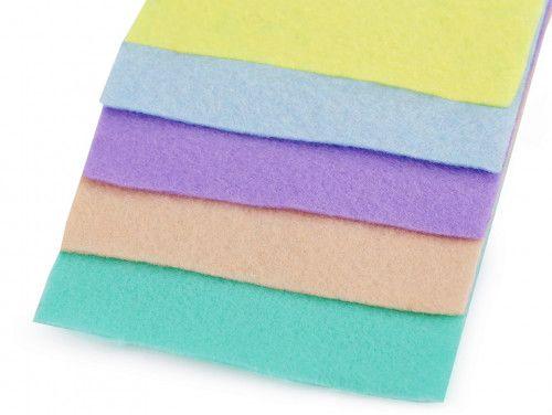 filc dekoracyjny zestaw pastelowy