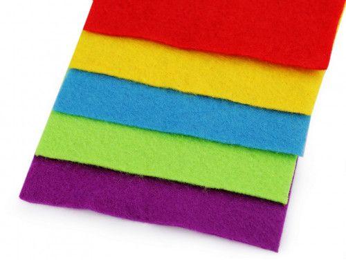 filc dekoracyjny zestaw kolorowy