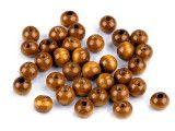 koraliki drewniane 10mm jasne brązowe -50g