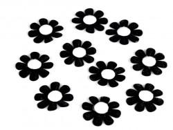 Aplikacja kwiatek czarny