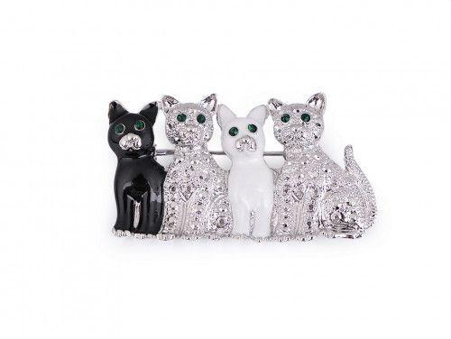 broszka 4 koty