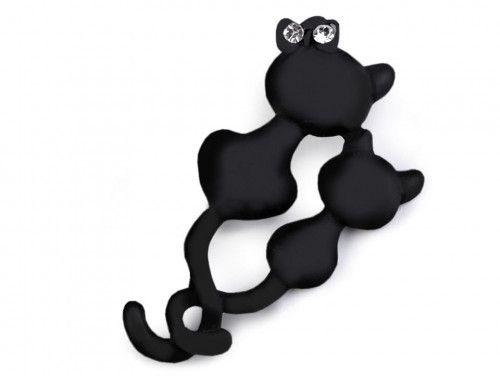 broszka czarne koty
