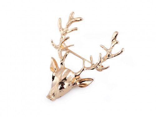 broszka jeleń złoty