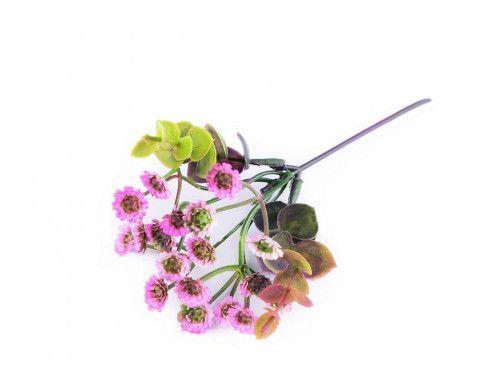 sztuczna gałązka z różówymi kwiatkami