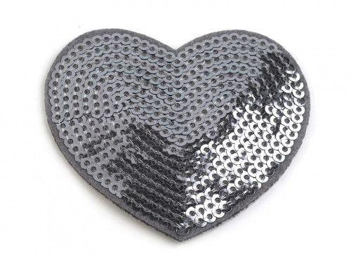 Aplikacja serce z cekinami