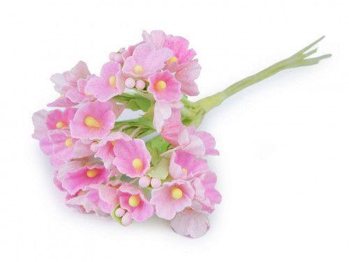 sztuczny bukiecik - różowy