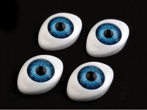 oczy do zabawek 16/23 niebieskie