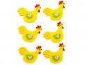 kurki z filcu 6szt samoprzylepne żółte