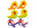 wesołe ptaszki z filcu 6szt samoprzylepne