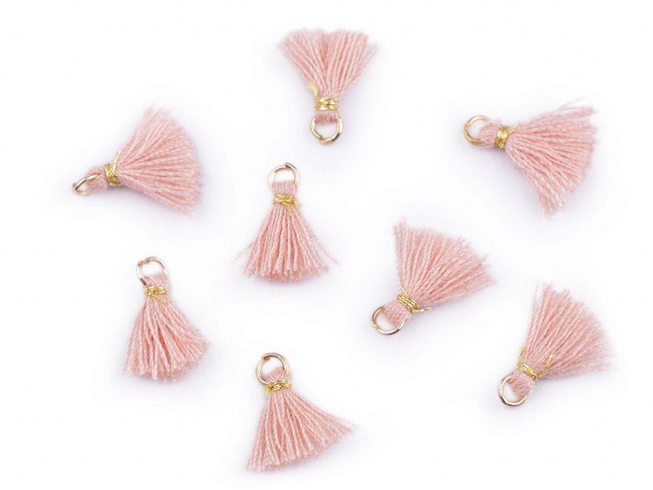 zawieszka frędzelek mini różowy 2 sztuki