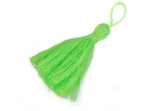 zawieszka frędzelek 55mm, neon zielony