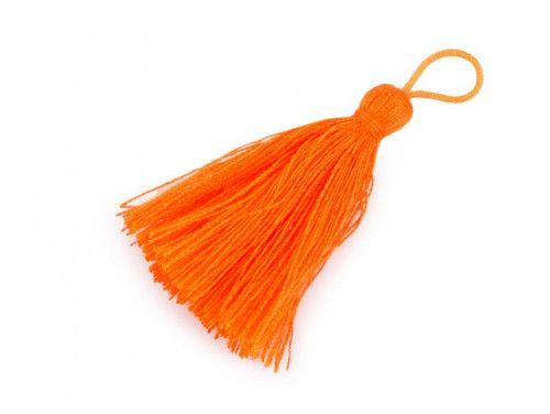 zawieszka frędzelek 55mm, neon pomarańczowy