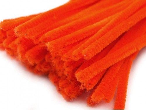 drut pluszowy pomarańczowy op.10