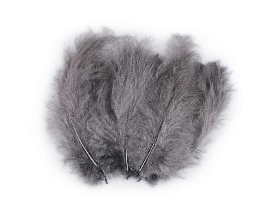 strusie pióra 9-16 cm szare ciemne