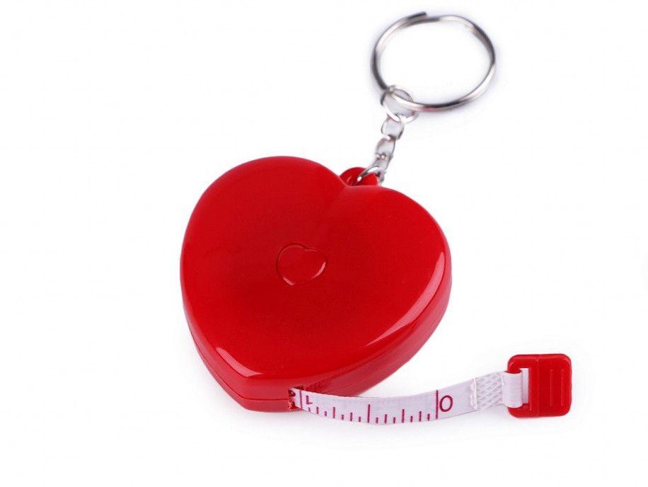 Centymetr automatyczny brelok serce